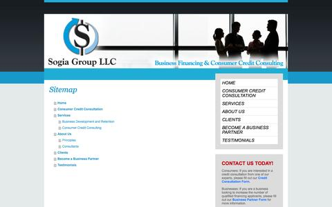 Screenshot of Site Map Page sogiagroupllc.com - Welcome To Sogia Group - captured Oct. 26, 2014