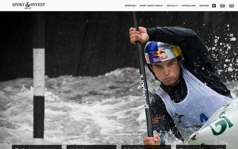 Screenshot of Home Page sport-invest.cz - Sport Invest Group - profesionální sport management - captured Oct. 3, 2014