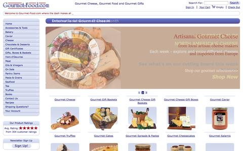 Screenshot of Home Page gourmet-food.com - Buy Gourmet Cheese, French Cheese, Artisanal Cheese and Gourmet Gift Baskets - captured Oct. 3, 2014