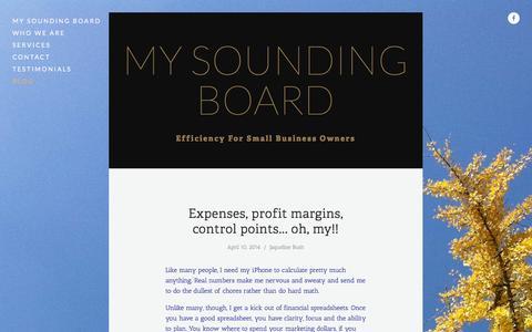 Screenshot of Blog mysoundingboard.nyc - Blog — My Sounding Board - captured Nov. 3, 2014