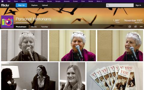 Screenshot of Flickr Page flickr.com - Flickr: personal.historians' Photostream - captured Oct. 23, 2014