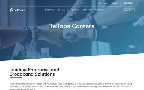 Careers   Tellabs