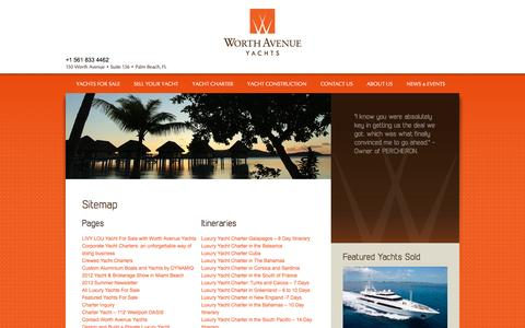 Screenshot of Site Map Page worthavenueyachts.com - Sitemap | Worth Avenue Yachts - captured Jan. 13, 2016