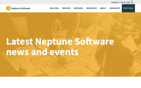 Screenshot of Press Page neptune-software.com - News and Events | Neptune Software - captured Feb. 2, 2018