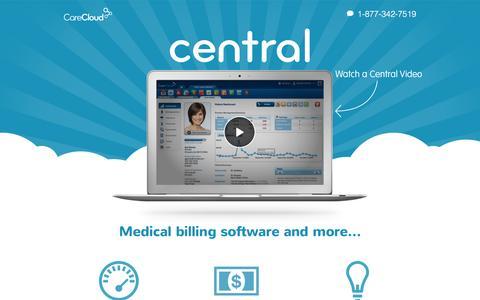 Screenshot of Landing Page carecloud.com - Medical Billing Software - captured Nov. 6, 2016