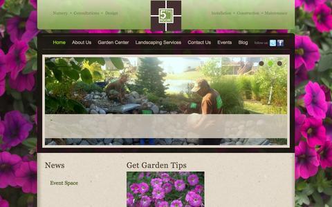 Screenshot of Home Page lokisgarden.com - 5th Room Landscapes - Des Moines Garden Center, Landscaping, & Landscape Design - captured Sept. 30, 2014