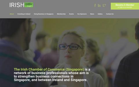 Screenshot of About Page irishchamber.com.sg - About | Irish Chamber of Commerce - captured Oct. 15, 2017