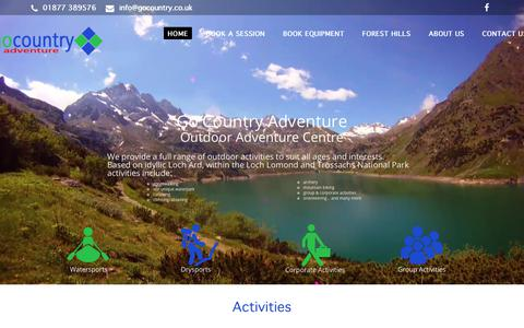 Screenshot of Home Page gocountry.co.uk - Outdoor Adventure Centre - Go Country Adventure - captured July 20, 2018