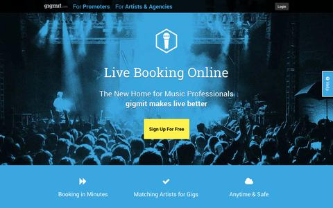Screenshot of Pricing Page gigmit.com - gigmit.com - makes live better! The Online Live Music and Event Booking Service - captured Oct. 3, 2014