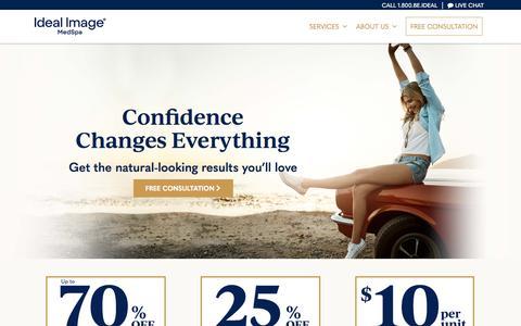 Screenshot of Services Page idealimage.com - Ideal Image MedSpa - Advanced Skin, Face & Body Specialists - captured Nov. 14, 2019