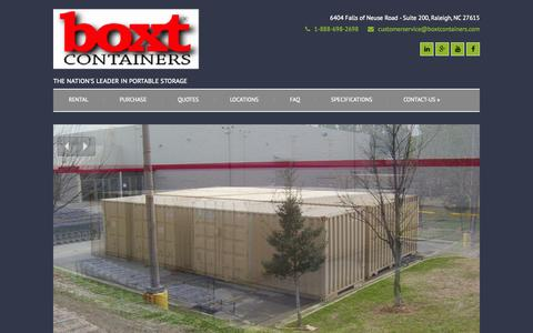 Screenshot of Home Page boxtcontainers.com - BOXT Containers | The Nation's Leader in Portable Storage - captured Sept. 30, 2014