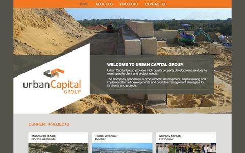 Screenshot of Home Page urbancapitalgroup.com.au - Home - Urban Captial - captured Jan. 29, 2015