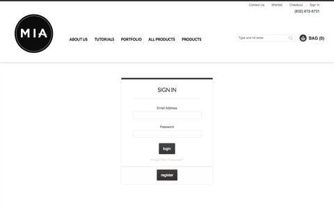 Screenshot of Login Page makeupimageagency.com - Customer Login - captured Sept. 30, 2014