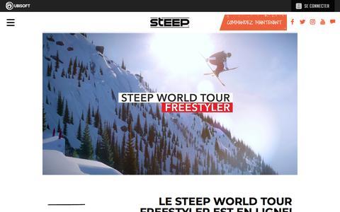Screenshot of Press Page ubisoft.com - Le Steep World Tour Freestyler est en ligne! | Actualités | Steep sur PS4, Xbox One & PC | Ubisoft (CA) - captured Nov. 8, 2019