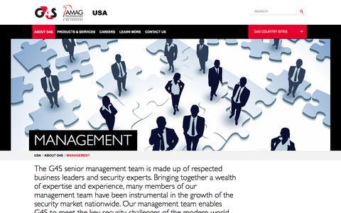 Screenshot of Team Page g4s.us - Management - captured June 25, 2017