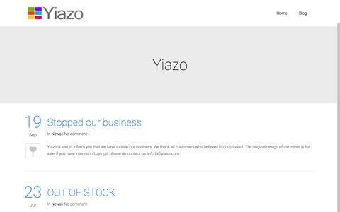 Screenshot of Home Page yiazo.com - Yiazo | is there for you – crypto currency services and miner products - captured Dec. 21, 2015