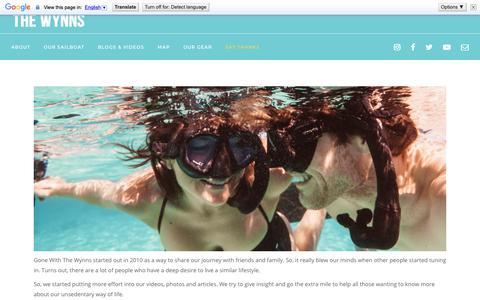 Screenshot of Signup Page gonewiththewynns.com - tip jar - captured Nov. 5, 2018
