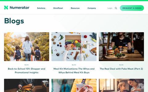 Screenshot of Blog numerator.com - Market Research Blog   Numerator - captured Aug. 19, 2019
