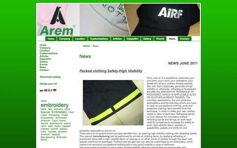 Screenshot of Press Page arem.it - News - captured Oct. 4, 2014
