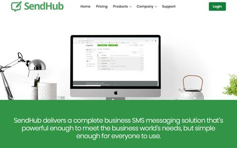 Screenshot of Products Page sendhub.com - Bulk and Mass SMS Messaging Key Features | SendHub - captured Jan. 13, 2019