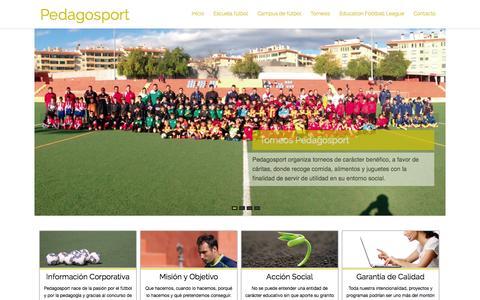 Screenshot of Home Page pedagosport.es - Pedagosport   El deporte, escuela de vida - captured Jan. 28, 2015