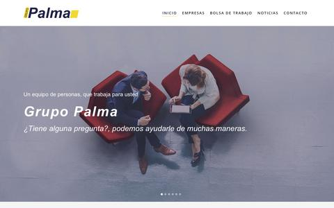 Screenshot of Home Page grupopalma.es - Grupo Palma | Un equipo de personas, que trabaja para usted. - captured Sept. 18, 2017