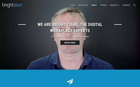 Screenshot of About Page brightstarr.com - Learn About BrightStarr & Our Team of SharePoint Consultants & Experts - captured July 30, 2016