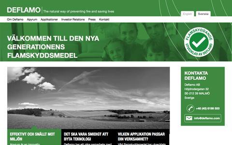 Screenshot of Home Page deflamo.se - Deflamo - captured Oct. 5, 2014