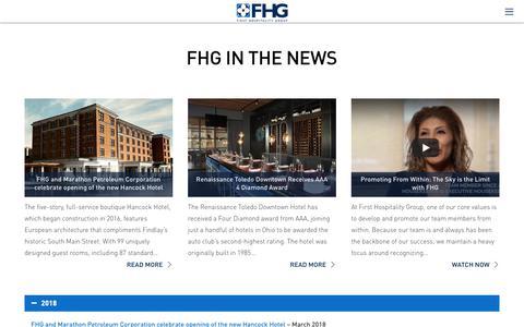 Screenshot of Press Page fhginc.com - Press - FHG Inc - captured Oct. 10, 2018