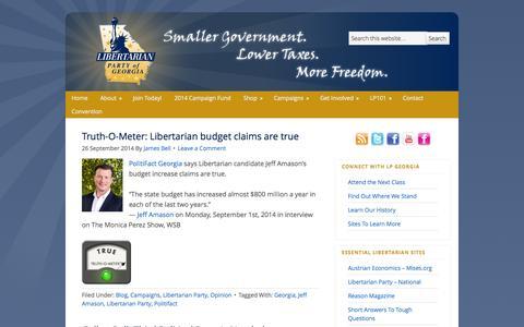 Screenshot of Blog lpgeorgia.com - Blog - captured Oct. 2, 2014