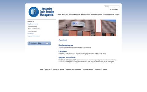 Screenshot of Contact Page advancedgrainmanagement.com - Advanced Grain Management - Contact Us - captured Oct. 6, 2014