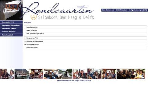Screenshot of Site Map Page Menu Page salonbootdenhaag.nl - Map - captured Nov. 12, 2018