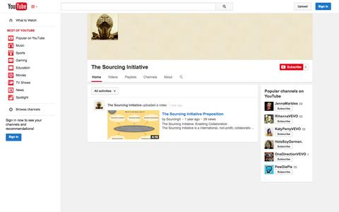 Screenshot of YouTube Page youtube.com - The Sourcing Initiative  - YouTube - captured Nov. 4, 2014