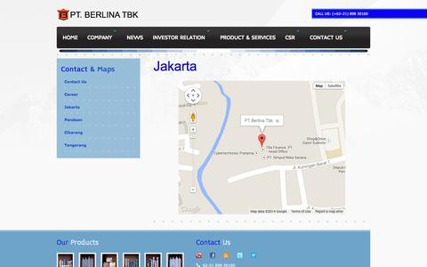 Screenshot of Maps & Directions Page berlina.co.id - Google Maps - captured Nov. 6, 2014