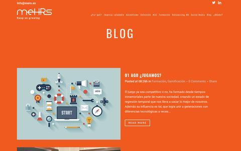 Screenshot of Blog mers.es - Blog | Mehrs - captured Sept. 29, 2017