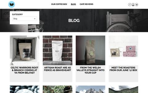 Screenshot of Blog thecoffeevine.com - Blog   by The Coffeevine - captured June 14, 2017