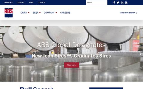 Screenshot of Home Page absglobal.com - ABS Global - ABSGlobal - captured July 27, 2018