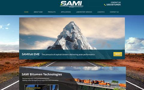 Screenshot of Home Page sami.com.au - Home - Sami Bitumen Technologies - captured Feb. 4, 2016
