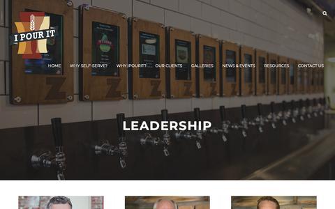 Screenshot of Team Page ipouritinc.com - Leadership - iPourIt, inc. - captured Dec. 7, 2018