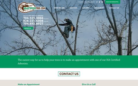 Screenshot of Contact Page heartwoodtree.com - Contact Us   Heartwood Tree Service - captured Sept. 27, 2018