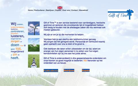 Screenshot of Home Page giftoftime.nl - Home - captured Sept. 29, 2014