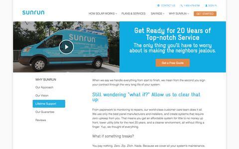 Screenshot of sunrun.com - Solar Warranty   Solar Lifetime Support   Sunrun - captured March 31, 2016