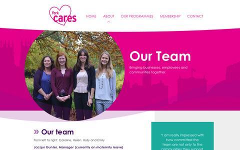 Screenshot of Team Page yorkcares.co.uk - Our Team   York Cares - captured Dec. 22, 2015