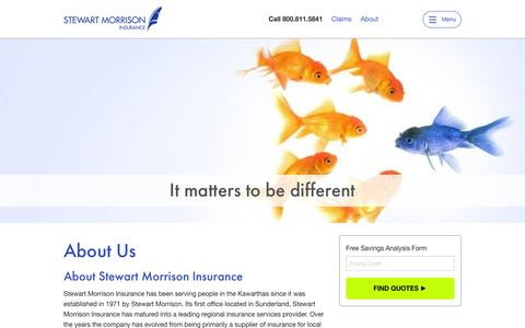 Screenshot of About Page stewartmorrison.ca - About Us | Stewart Morrison Insurance - captured Feb. 16, 2016