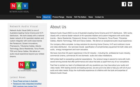 Screenshot of About Page networkav.com.au - About Us - Network Audio Visual - captured Nov. 29, 2016