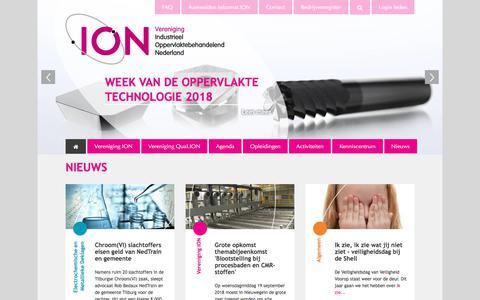 Screenshot of Home Page vereniging-ion.nl - Home | Vereniging ION - captured Sept. 20, 2018