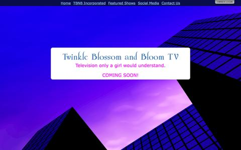 Screenshot of Home Page tbnb.tv - Twinkle Blossom and Bloom TV - captured Aug. 12, 2015