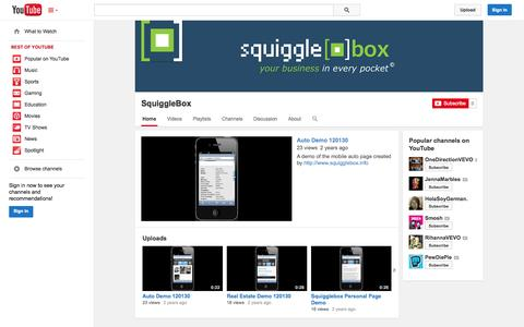 Screenshot of YouTube Page youtube.com - SquiggleBox  - YouTube - captured Oct. 26, 2014