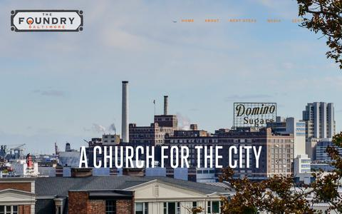 Screenshot of Home Page foundrybaltimore.com - The Foundry | Baltimore - captured Oct. 20, 2018