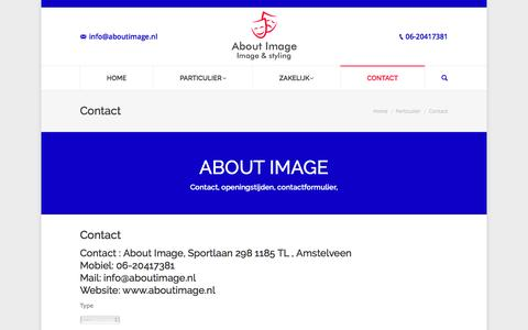 Screenshot of Contact Page aboutimage.nl - contact, contactformulier en openingstijden - About Image - captured Nov. 20, 2016